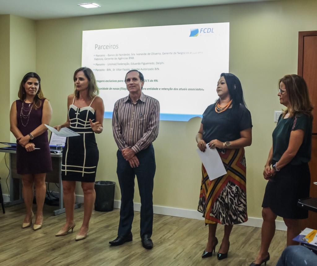 Equipe FCDLRN iniciando as apresentações e dando as boas vindas.