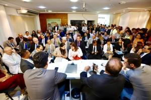 Sala tomada pelo setor empresarial. Foto: Moraes Neto.
