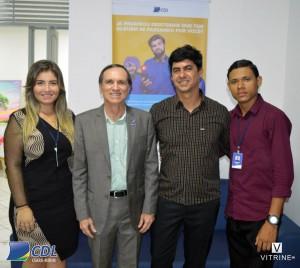 Afrânio Miranda com equipe da CDL Ceará Mirim.