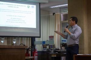 Eduardo de Paula Melo, diretor da ANORC apresenta projeto de revitalização da cadeia de carne no RN. (Foto: Ana Luiza Vla Nova)