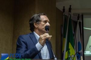 Afrânio Miranda, presidente da FCDL/RN em discurso.