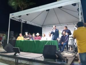 Afrânio Miranda, presidente da FCDL RN, discursa na abertura da Feira